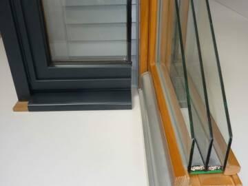 Coupe Fenêtres bois triple vitrage