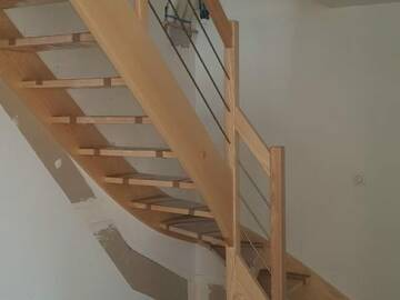 Escalier sur mesure 1/4 tournant à Gunsbach