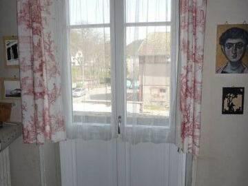 Porte-fenêtre bois cintrée sur mesure à Munster
