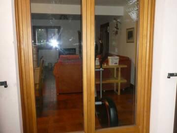 Porte-fenêtre bois de pin sur mesure à Soultzbach-les-Bains